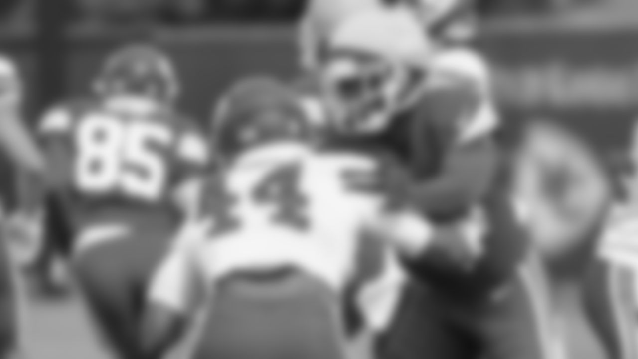 Kansas City Chiefs linebacker Dorian O'Daniel (44) and Kansas City Chiefs wide receiver Cornell Powell (14) during practice at The University of Kansas Health System Training Complex.