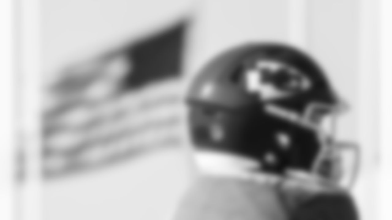 Kansas City Chiefs helmet during training camp at Missouri Western State University.