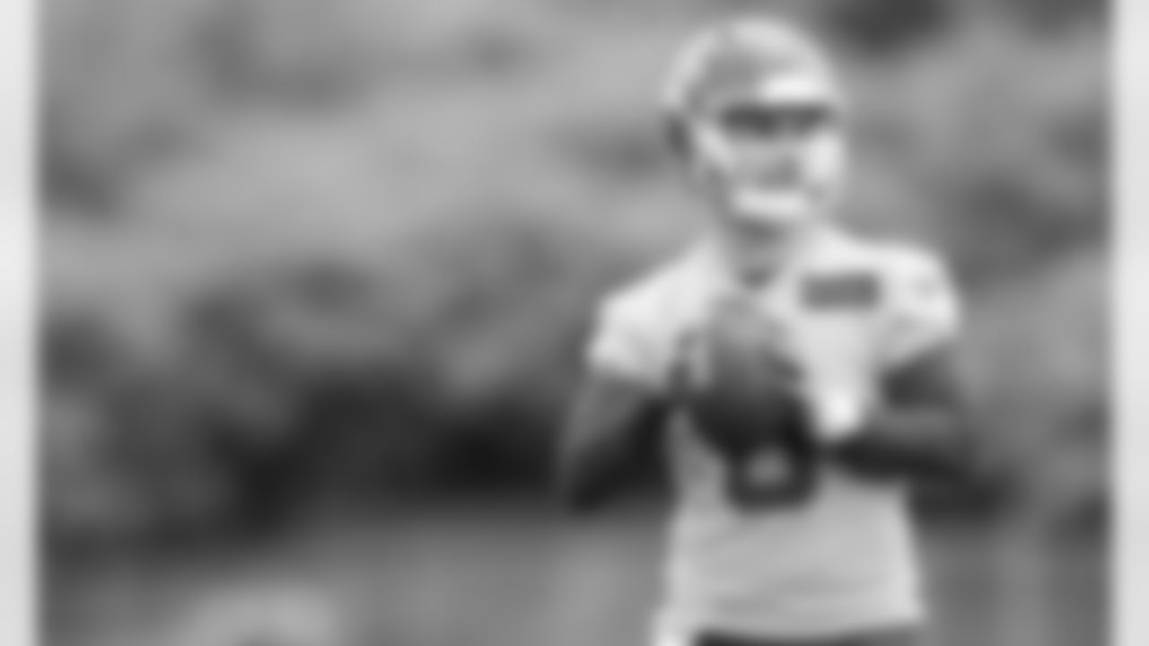 Kansas City Chiefs Quarterback Shane Buechele (6) during day two practice at Chiefs rookie mini camp.