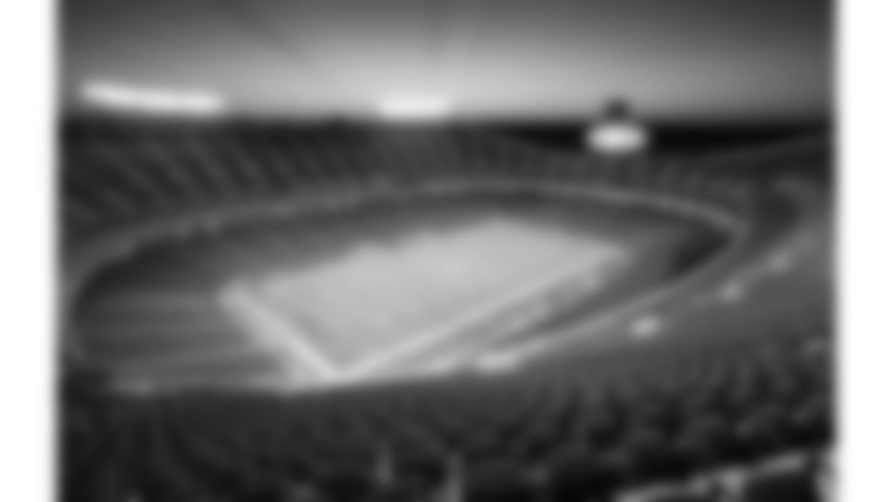 Scenic stadium view at sunrise prior to an NFL football game against the Los Angeles Chargers, Sunday, September 26, 2021 in Kansas City.