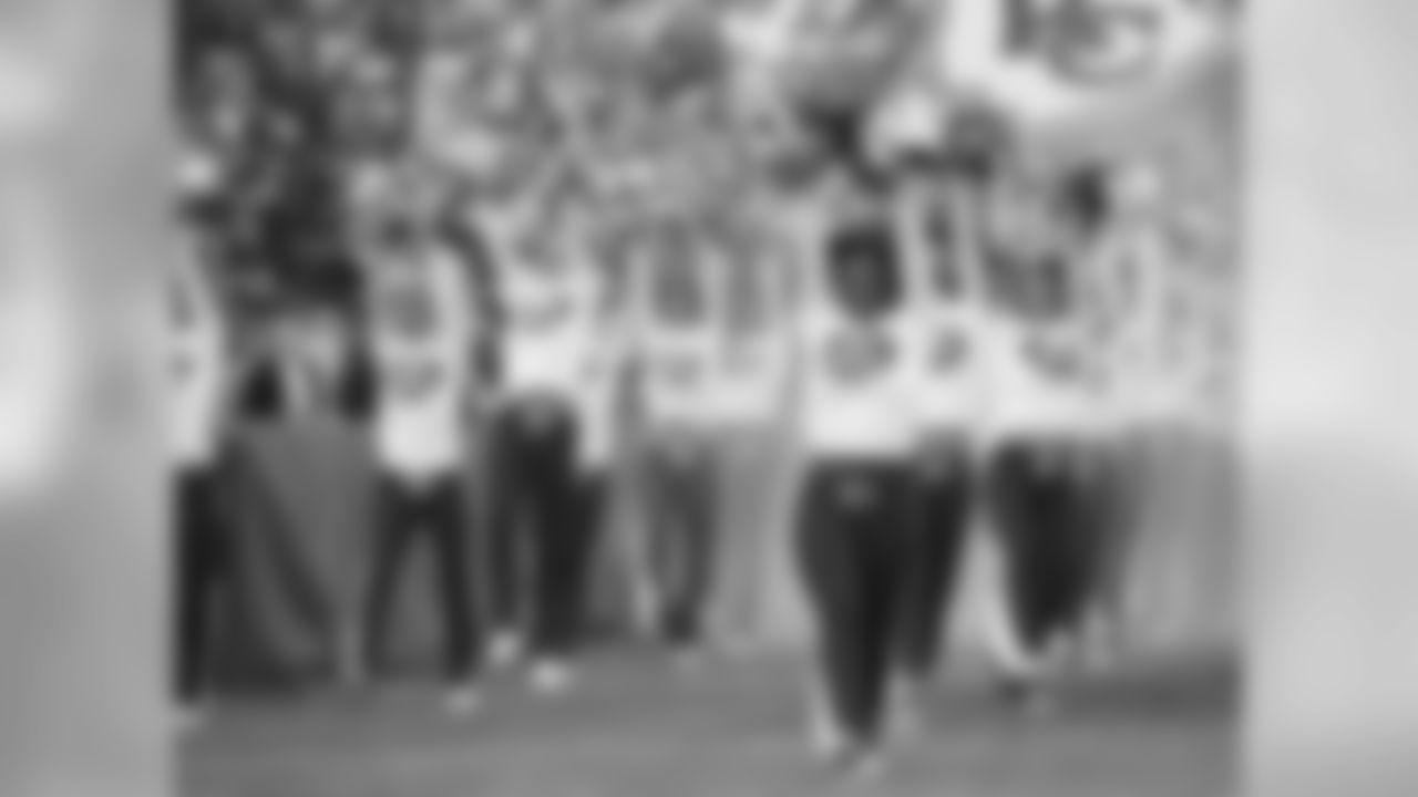 Kansas City Chiefs Cheerleaders during the Chiefs vs Raiders game December 14, 2014