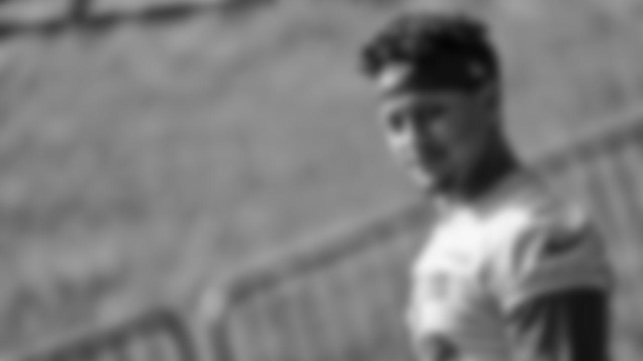 Kansas City Chiefs quarterback Patrick Mahomes (15) during rookie training camp at Missouri Western State University.