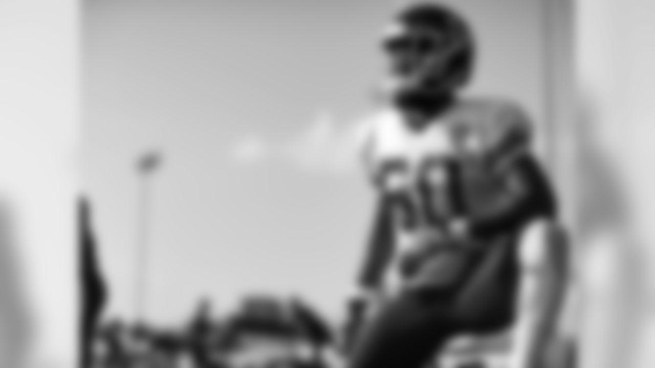 Kansas City Chiefs linebacker Raymond Davison (60) during practice on 8/2/18 at Chiefs Training Camp at Missouri Western State University in St. Joseph, Missouri.
