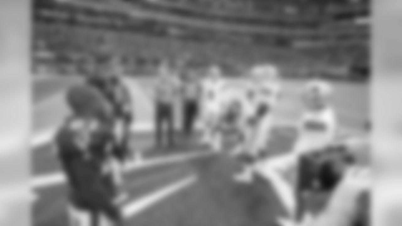 18 November 2018:   Views of the Dallas Cowboys during the first half of their NFL week 11 regular season game against the Atlanta Falcons at Mercedes-Benz Stadium in Atlanta, Georgia.  Photo by James D. Smith/Dallas Cowboys