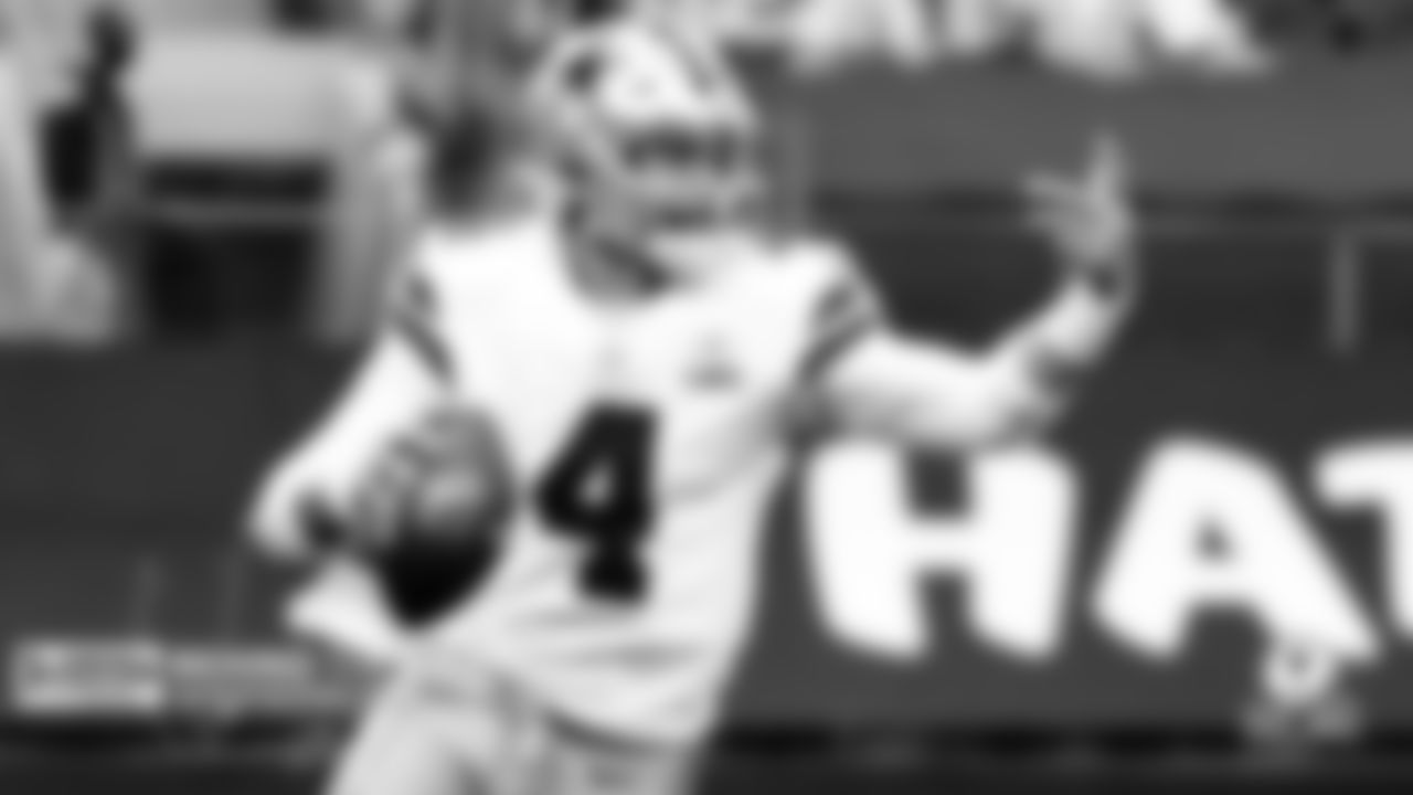 Who is the Guy? Dak Prescott  If there was any doubt about Prescott's status as the Cowboys' QB1 of the future, the fifth-year squashed those concerns with his spectacular play. No.4 posted three games with 450-plus passing yards in five starts while tossing the ball around the yard with a surgeon's precision. Prescott's connection with the Cowboys' five-star WR corps put the offense on a record-breaking pace that made the unit must-see TV. Although a season-ending ankle injury will fuel speculation about the team potentially moving on from their QB1, it is hard to imagine Mike McCarthy casting aside an emerging superstar at the position.