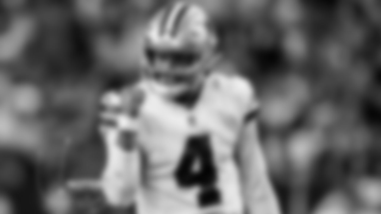 """*Big Praise For Dak*  One glance at the stats shows Dak Prescott is off to a great start this season.  Through three games, Prescott leads all starters in completion percentage (77.5%) and ranks ninth in passer rating (110.1).  But Prescott's command of the Cowboys' offense has drawn comparisons to some of the all-time greats.  """"When you watch Dak right now, it reminds me of Peyton Manning, it reminds me of Drew Brees in terms of his pocket awareness,"""" Carolina Panthers head coach Matt Rhule said. """"… I think he's playing such elite level football, both with his arm but also with his mind and his feel for the game, that it's unbelievably impressive watching him.""""  Prescott and the Cowboys (2-1) face the undefeated Panthers (3-0) Sunday at AT&T Stadium.  """"That's a hell of a compliment,"""" Prescott said. """"Those are two guys that I idolized when I first started playing this position, being a kid from Louisiana obviously seeing Drew Brees and knowing Peyton Manning is from there as well. … They were playing the game before the snap that allowed them to be ahead of the defense post snap. So it's a hell of a compliment. Just got to continue to get better, though.""""  -Rob Phillips (10/1)"""