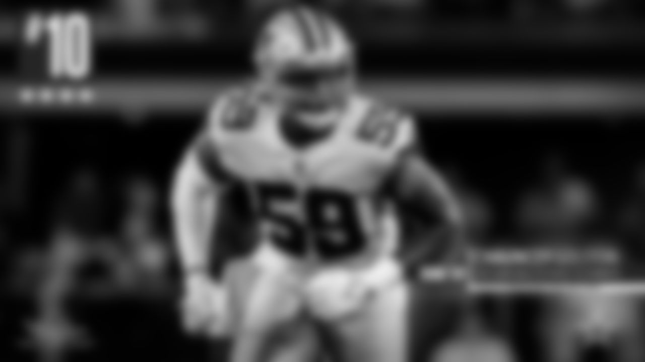 10. Chauncey Golston – To think he's only played two games, but the rookie from Iowa looked more than comfortable out there. And he was making Sam Darnold rather uncomfortable with his pressure. His versatility to play both end and tackle showed up big, as he recorded a half-sack in the third quarter.
