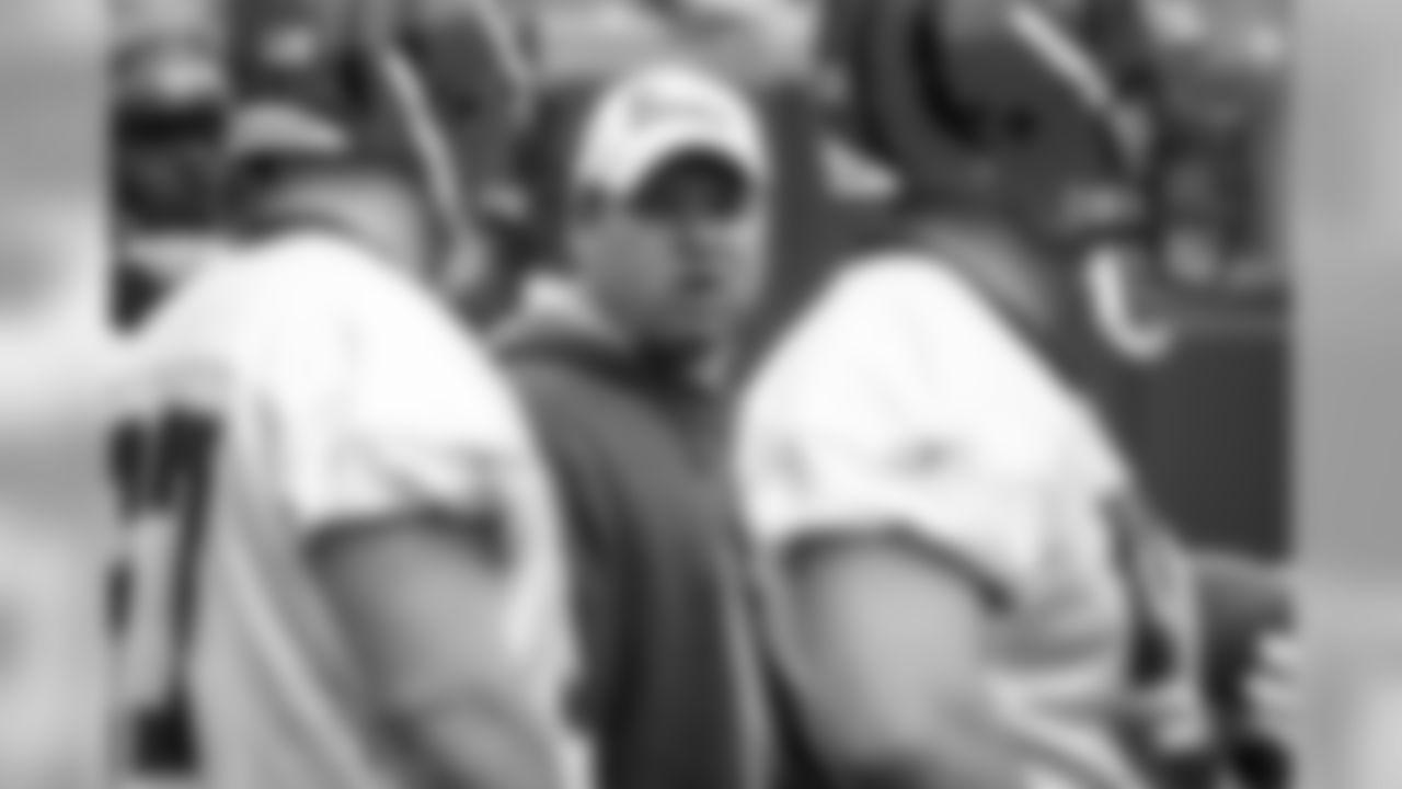 Cincinnati Bengals offensive line coach Paul Alexander during the Bengals rookie mimicamp at Paul Brown Stadium, Friday, May 1, 2009 in Cincinnati. (AP Photo/David Kohl)