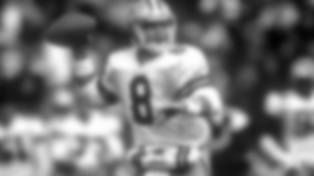Oct. 6, 1991 – Cowboys 20, Packers 17  Playing at Milwaukee County Stadium where both teams were placed on the same sideline, the Cowboys survived a late Packers rally to preserve the win and improve to 4-2 on the season.  Safety Ray Horton intercepted a pass and returned it 65 yards for an early touchdown with Jay Novacek enjoying a career game by hauling in a personal-best 11 catches, including Troy Aikman's only scoring pass of the day as the Cowboys led 14-3 at the half.  The Packers returned the opening second-half kickoff for a touchdown and added another by Shannon Sharpe in the fourth, but it wasn't enough to overtake the Cowboys. Emmitt Smith had 39 touches, posting 32 carries for 122 yards and seven catches for 21 more.