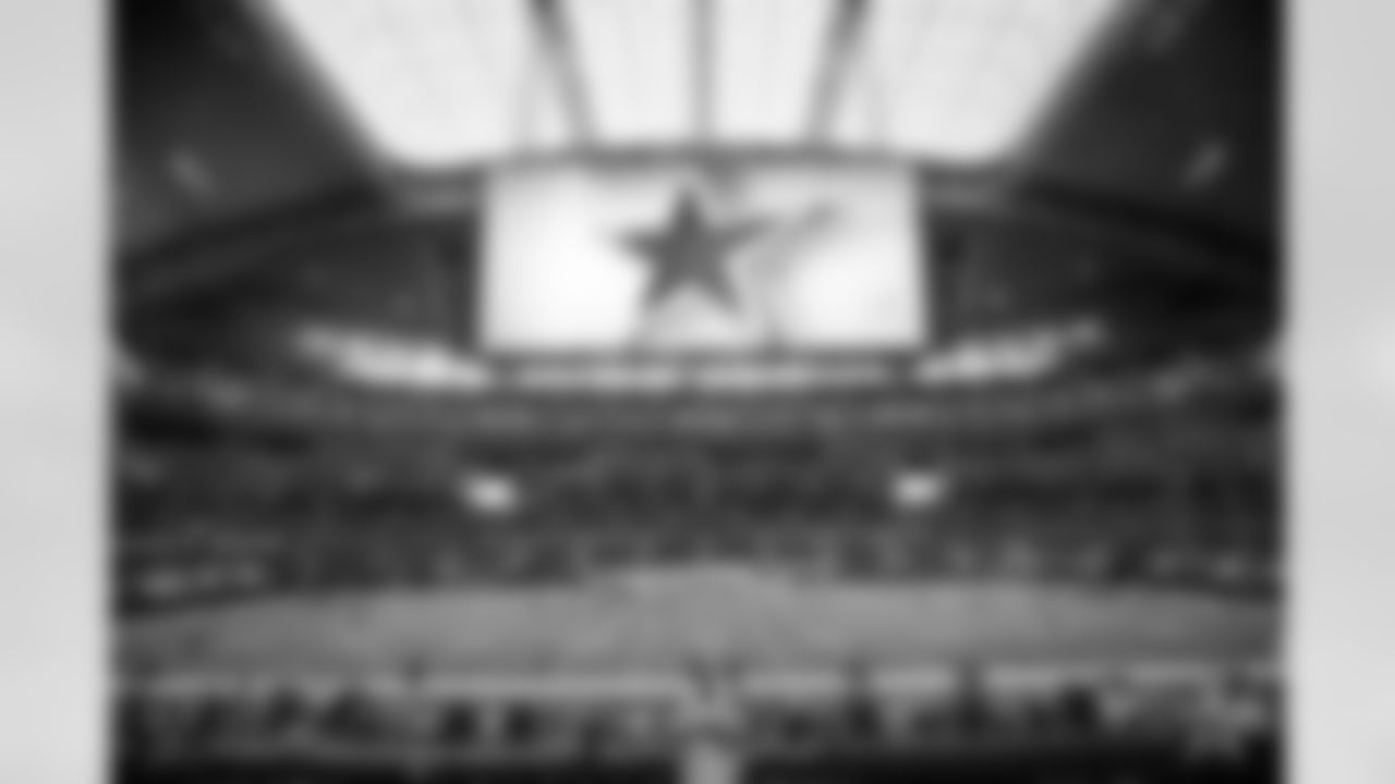 A general, overall, view of AT&T Stadium before an NFL football game between the Dallas Cowboys and the Atlanta Falcons in Arlington, Texas, Sunday, Sept. 20, 2020. (AP Photo/Michael Ainsworth)