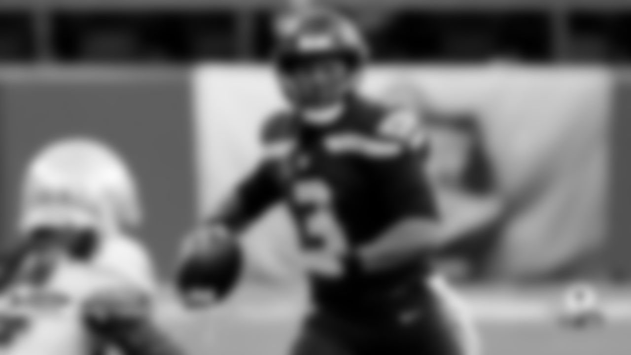 "Who's the Guy… Russell Wilson  The NFL leader in completion percentage (82.5%), pass touchdowns (9) and passer rating (140.0) is arguably the most dangerous playmaker at the position. The ninth-year pro is averaging 300-plus yards per game (305.0) while directing an offense that is more pass-centric than the Seahawks' previous versions. With Carroll ushering in the ""Let Russ Cook"" movement in 2020, the Seahawks' success hinges on No.3's performance and production as a playmaker."