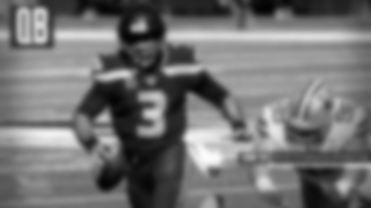 """QB: Russell Wilson, Seattle  While the Cowboys had their issues with running quarterbacks all year, such as Kyler Murray and Lamar Jackson, it was Russell Wilson who """"cooked"""" them back in Week 3. Wilson used his mobility to keep the play alive. He bombed the Cowboys for five touchdowns with 315 yards and made every play necessary to get the 38-31 win."""