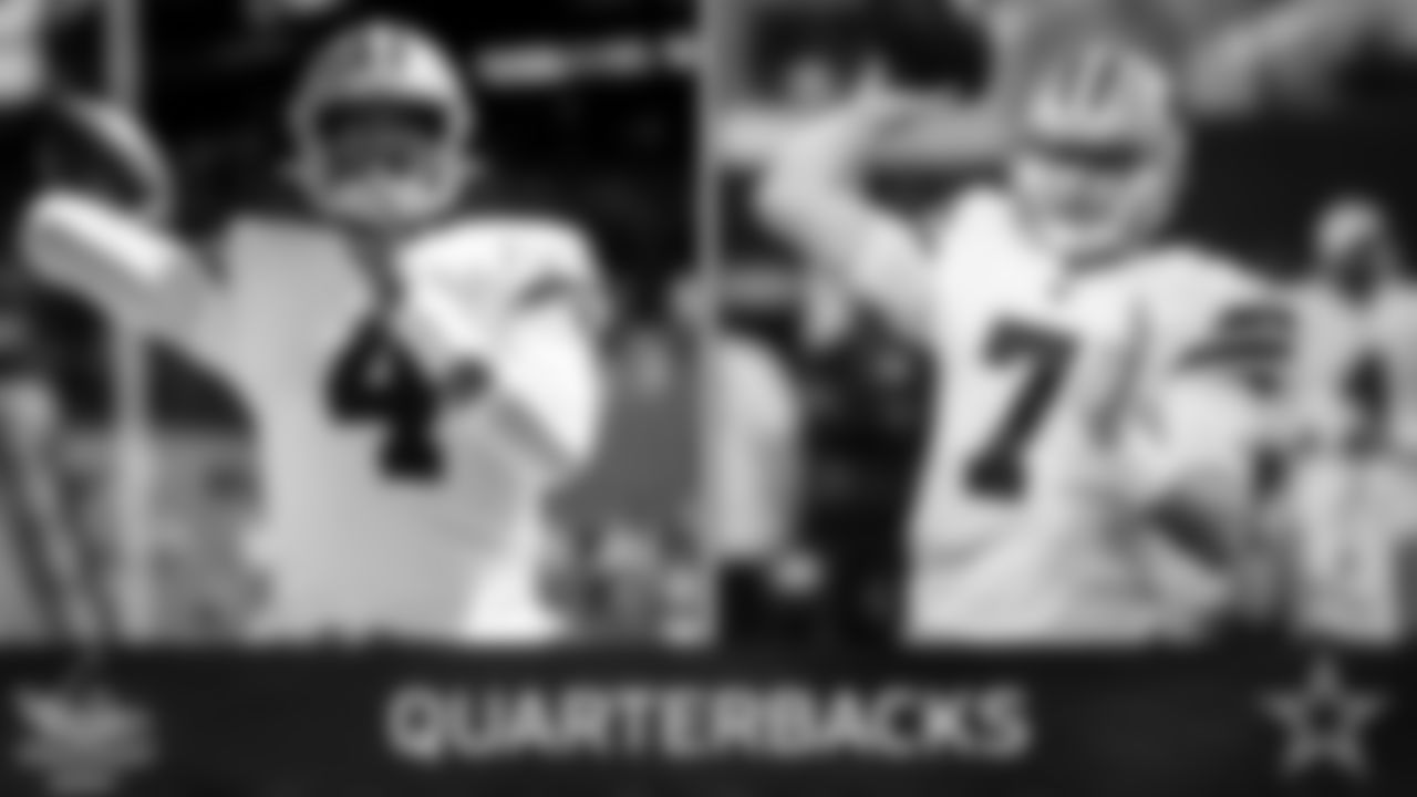 Quarterbacks (2)  While they kept three last year, there just wasn't room for Mike White this time around. The 2018 draft pick didn't make the jump as the Cowboys would've liked, therefore Dak Prescott and Cooper Rush are the only two on the roster.  Let's see if both White and Taryn Christion find a way on the practice squad.