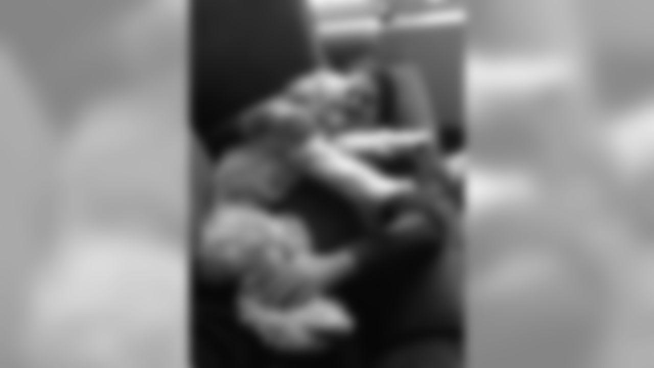 T Dennis Kelly's cuddly pup