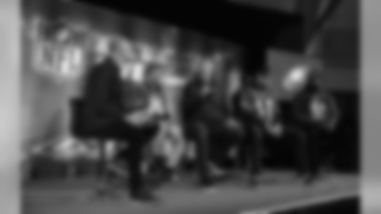 Doug Pederson, Carson Wentz, Fletcher Cox, Brandon Graham, and Zach Ertz were among the Eagles on hand at the NFL UK Live event