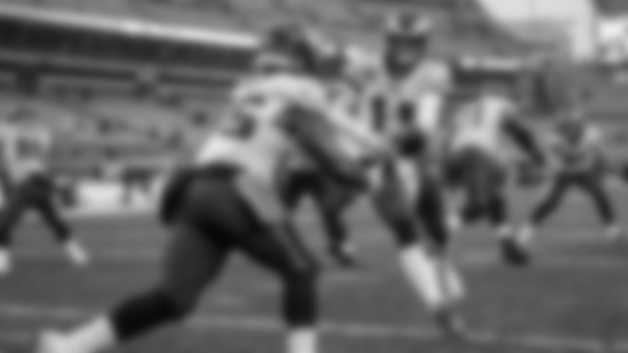 QB Carson Wentz hands off to RB Boston Scott  Philadelphia Eagles vs. Cleveland Browns at FirstEnergy Stadium on November 22, 2020