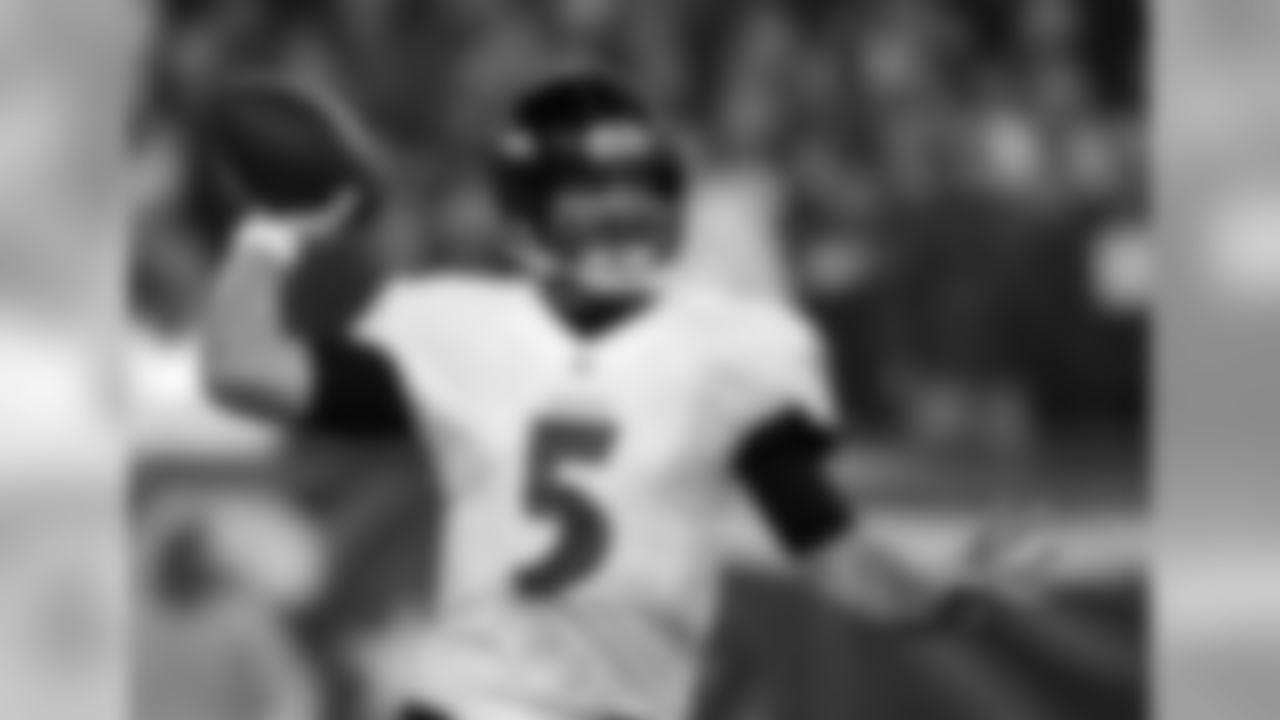 QB Joe Flacco is a nine-year NFL veteran. This season, Flacco has 17 touchdowns and 3,582 passing yards.