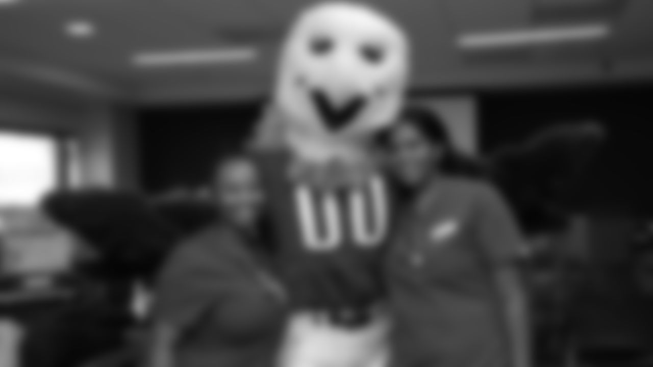 SWOOP poses with medical staff during the event