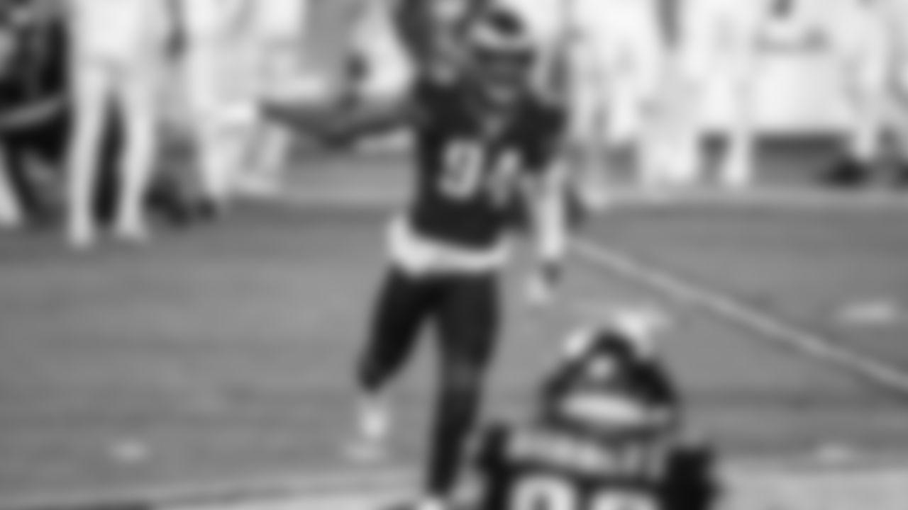 DE Josh Sweat  Philadelphia Eagles vs. New Orleans Saints at Lincoln Financial Field on December 13, 2020