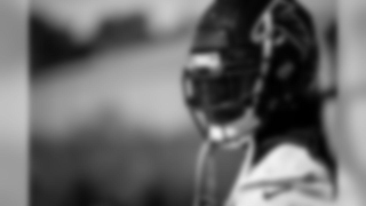 Atlanta Falcons defensive back Jamal Carter #35 looks on during practice. (Photo by Kara Durrette/Atlanta Falcons)
