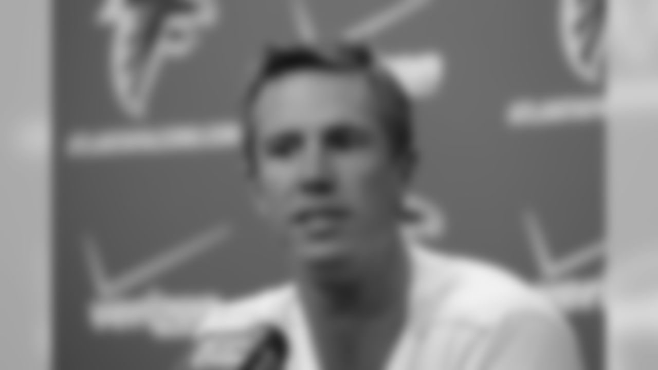 Falcons QB Matt Ryan at the podium // Player News Conferences // July 26, 2011 // Flowery Branch, Ga. —