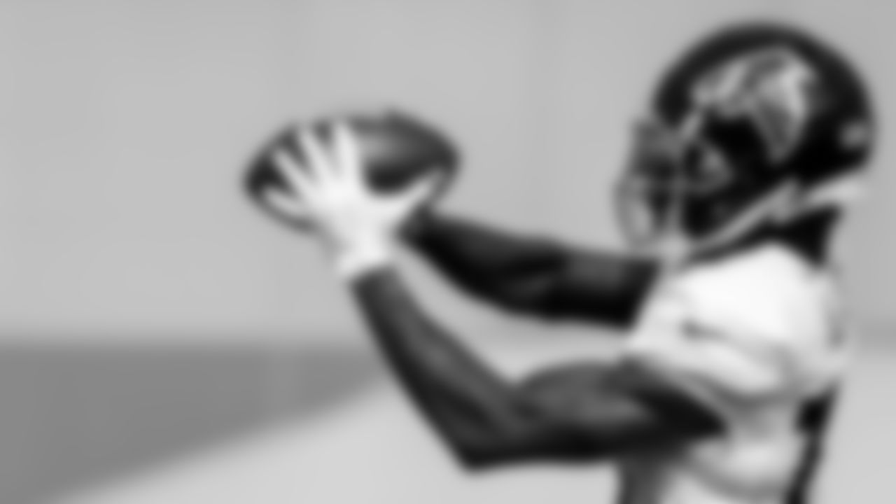 Atlanta Falcons wide receiver Christian Blake #13 during AT&T Atlanta Falcons Training Camp at Atlanta Falcons Headquarters in Flowery Branch, Georgia, on Wednesday August 4, 2021. (Photo by Kara Durrette/Atlanta Falcons)