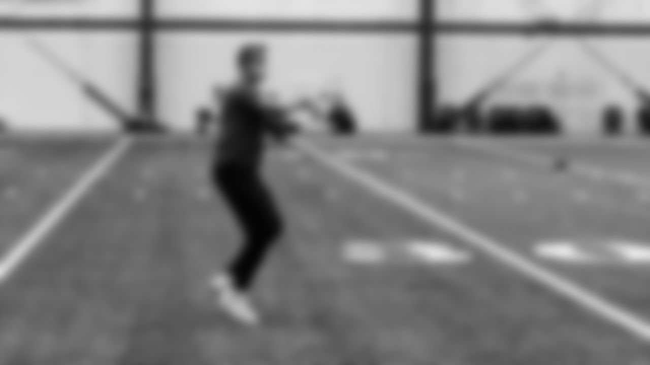 Atlanta Falcons quarterback Matt Ryan #2 warms up during practice at IBM Performance Field.