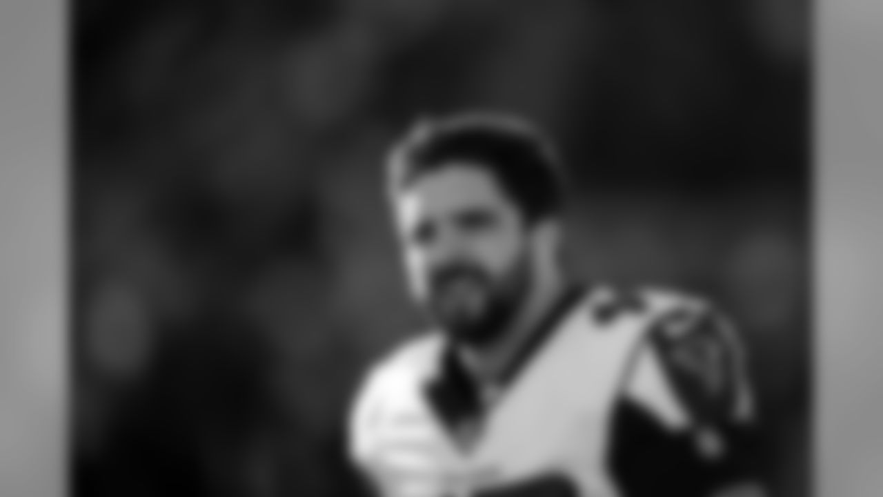 Atlanta Falcons long snapper Josh Harris #47 looks on during pregame at Levi's Stadium in Santa Clara, CA, on Sunday December 15, 2019. (Photo by Alika Jenner/Atlanta Falcons)