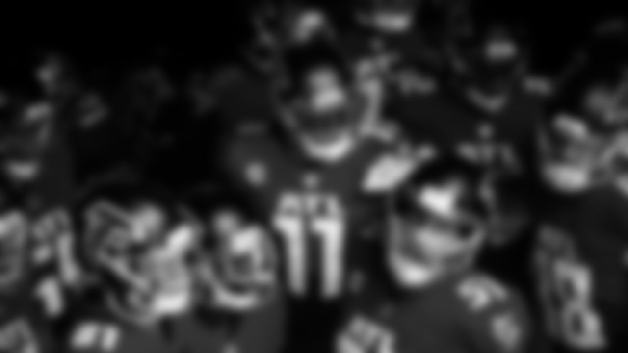 Atlanta Falcons wide receiver Julio Jones #11 during warm ups against the Detroit Lions on October 25, 2020. (Photo by Adam Hagy/Atlanta Falcons)