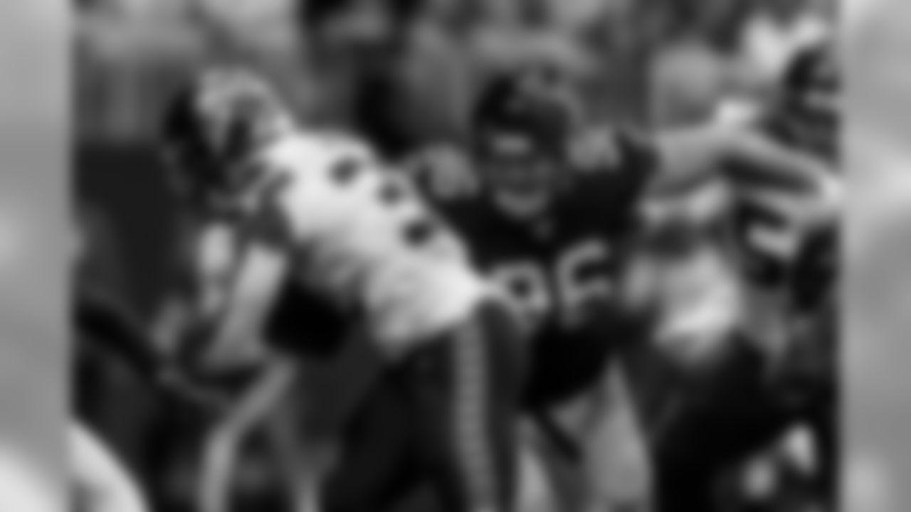 Atlanta Falcons defensive tackle Tyeler Davison #96 goes after Seattle Seahawks running back Chris Carson #32 during the second quarter between the Atlanta Falcons and the Seattle Seahawks at Mercedes-Benz Stadium in Atlanta, GA, on Sunday October 27, 2019. (Photo by Kyle Hess/Atlanta Falcons)