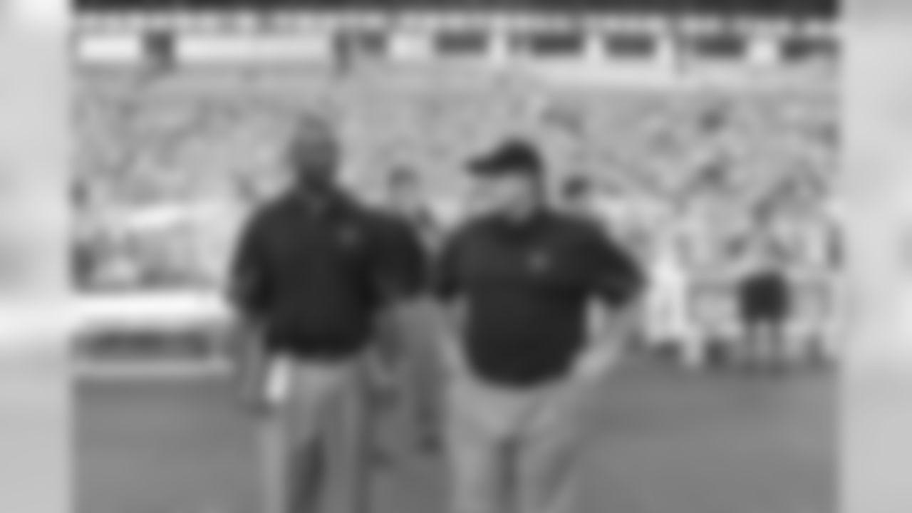 Special Teams Coordinator Keith Armstrong and Tight Ends Coach Chris Scelfo // Falcons vs. Ravens // 11/11/10 – Georgia Dome,