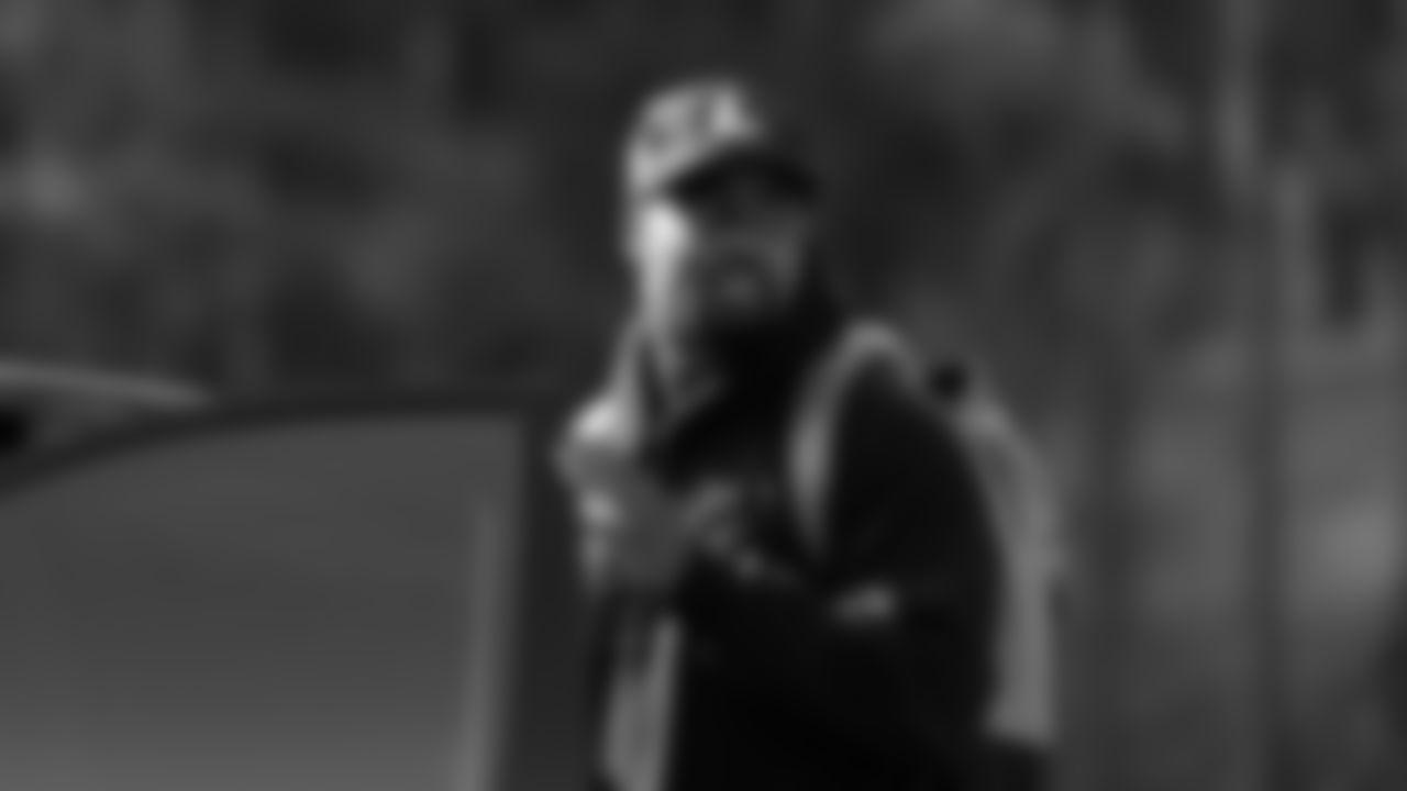 Atlanta Falcons running back Mike Davis #28 reports for AT&T Atlanta Falcons Training Camp at Atlanta Falcons Headquarters in Flowery Branch, Georgia, on Tuesday July 27, 2021. (Photo by Dakota Williams/Atlanta Falcons)