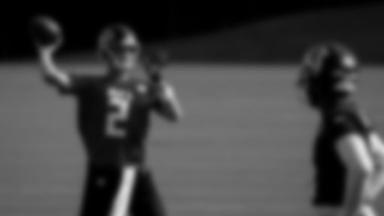 Atlanta Falcons quarterback Matt Ryan #2 in action during practice at IBM Performance Field. (Photo by Kara Durrette/Atlanta Falcons)