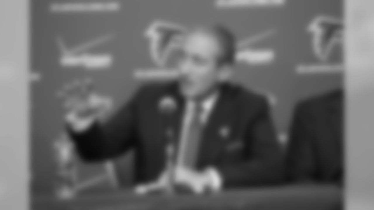 Falcons owner & chairman Arthur Blank speaks during the 2011 Season in Review press conference on Wednesday // 2011 Season in Review Press Conference // Jan. 11, 2012 // Atlanta -