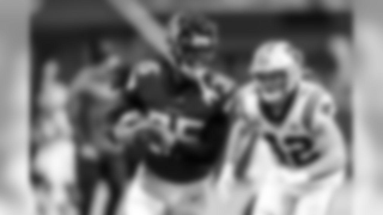 Atlanta Falcons defensive back Jamal Carter #35 recovers a fumbled ball against the Carolina Panthers at Mercedes-Benz Stadium in Atlanta, GA, on Sunday December 8, 2019. (Photo by Kara Durrette/Atlanta Falcons)