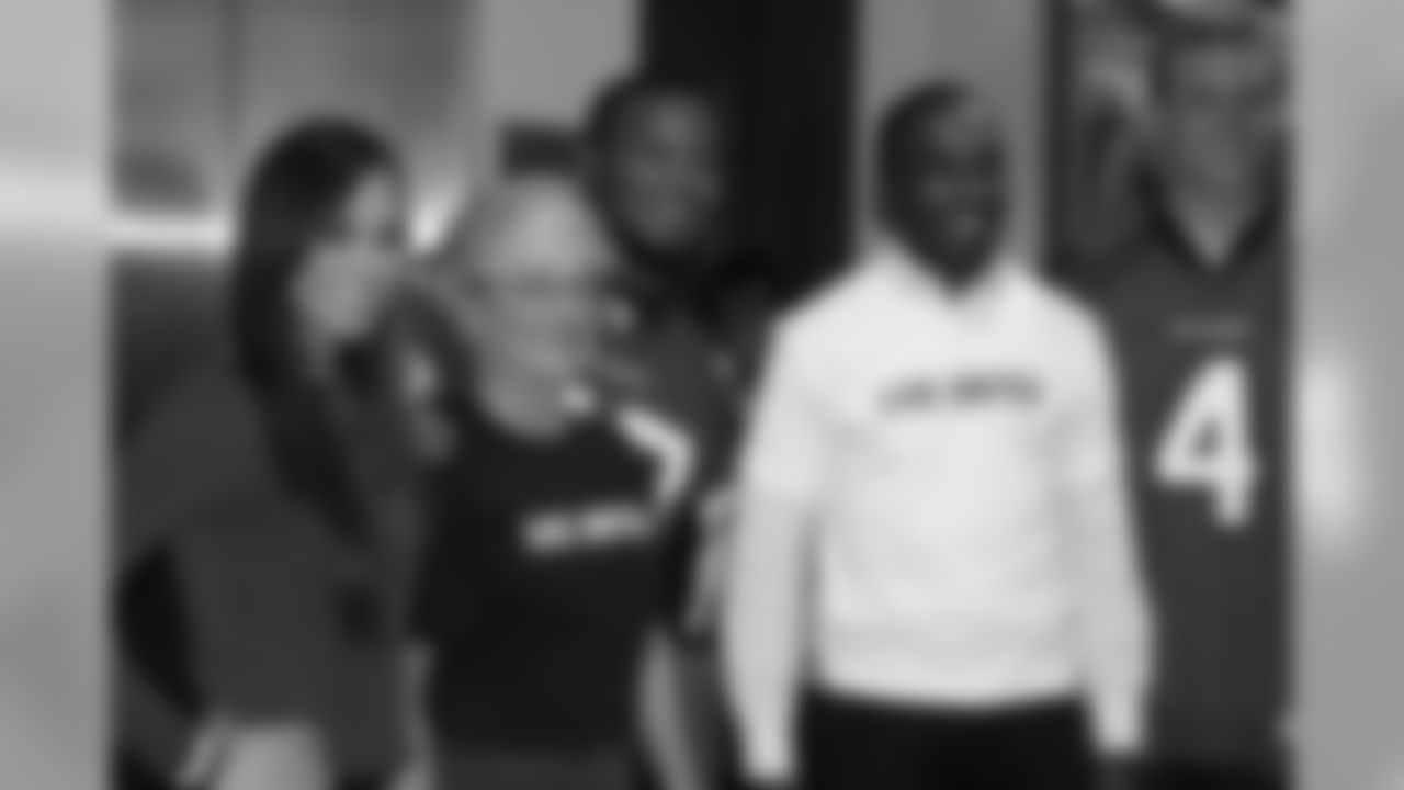 Margaret M., left // 2010 Atlanta Falcons Cheerleaders Community Appearances // 2010 // Atlanta -