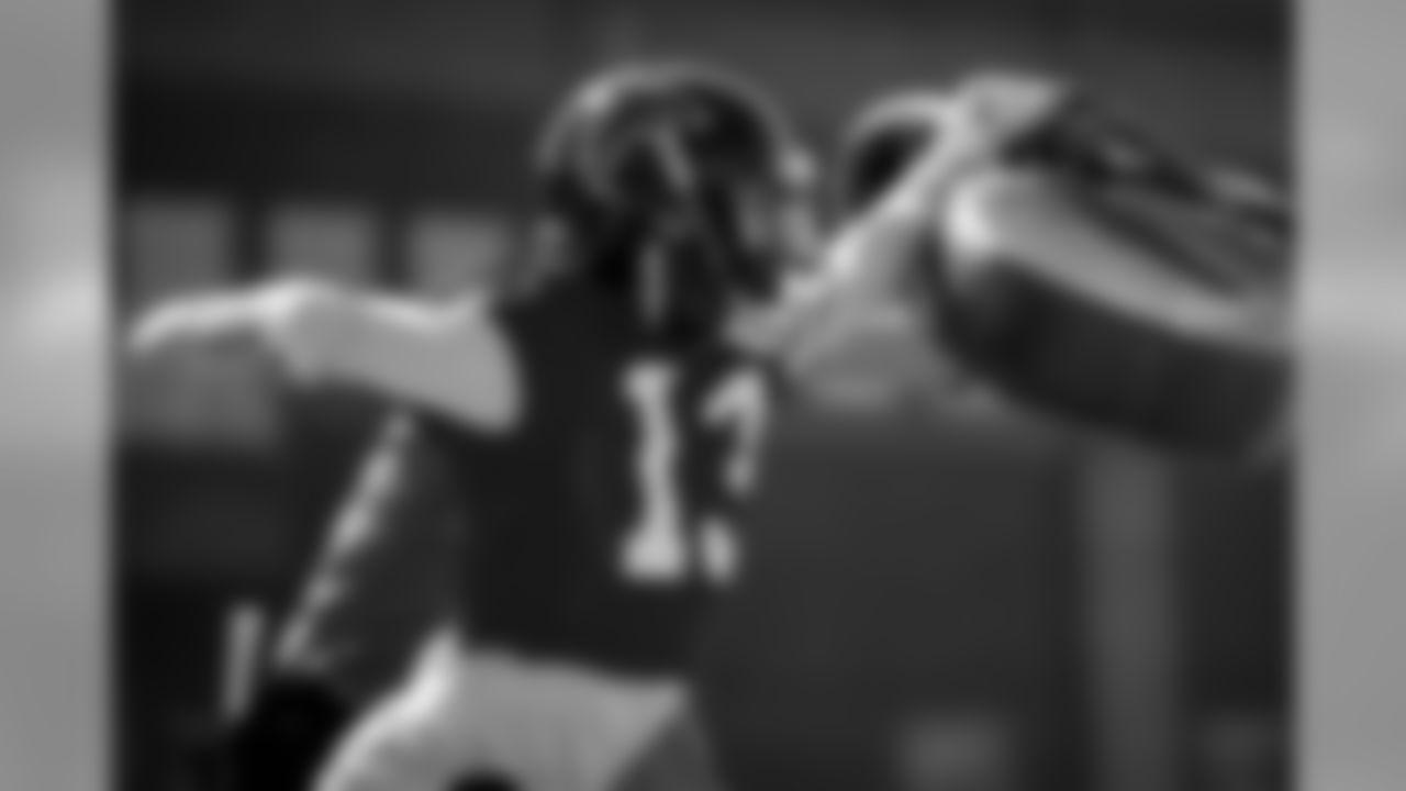 Atlanta Falcons wide receiver Christian Blake in action during practice. (Photo by Kara Durrette/Atlanta Falcons)