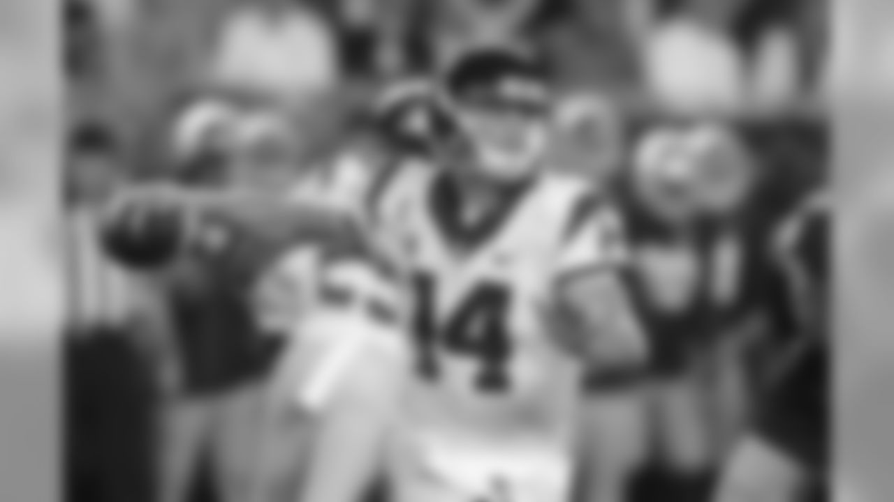 Quarterback1. Sam Darnold, USC (AP Photo/Carlos Osorio)2. Josh Allen, Wyoming 3. Josh Rosen, UCLA 4. Baker Mayfield, Oklahoma T-5. Lamar Jackson, Louisville T-5. Mason Rudolph, Oklahoma State