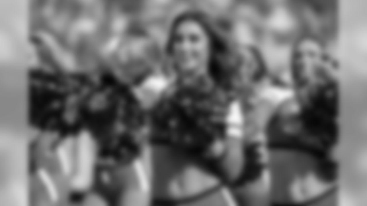 Member of the Jacksonville Jaguars Roar cheerleaders perform during the second half of an NFL football game between the Jacksonville Jaguars and the Houston Texans, Sunday, Oct. 21, 2018, in Jacksonville, Fla. (AP Photo/Stephen B. Morton)