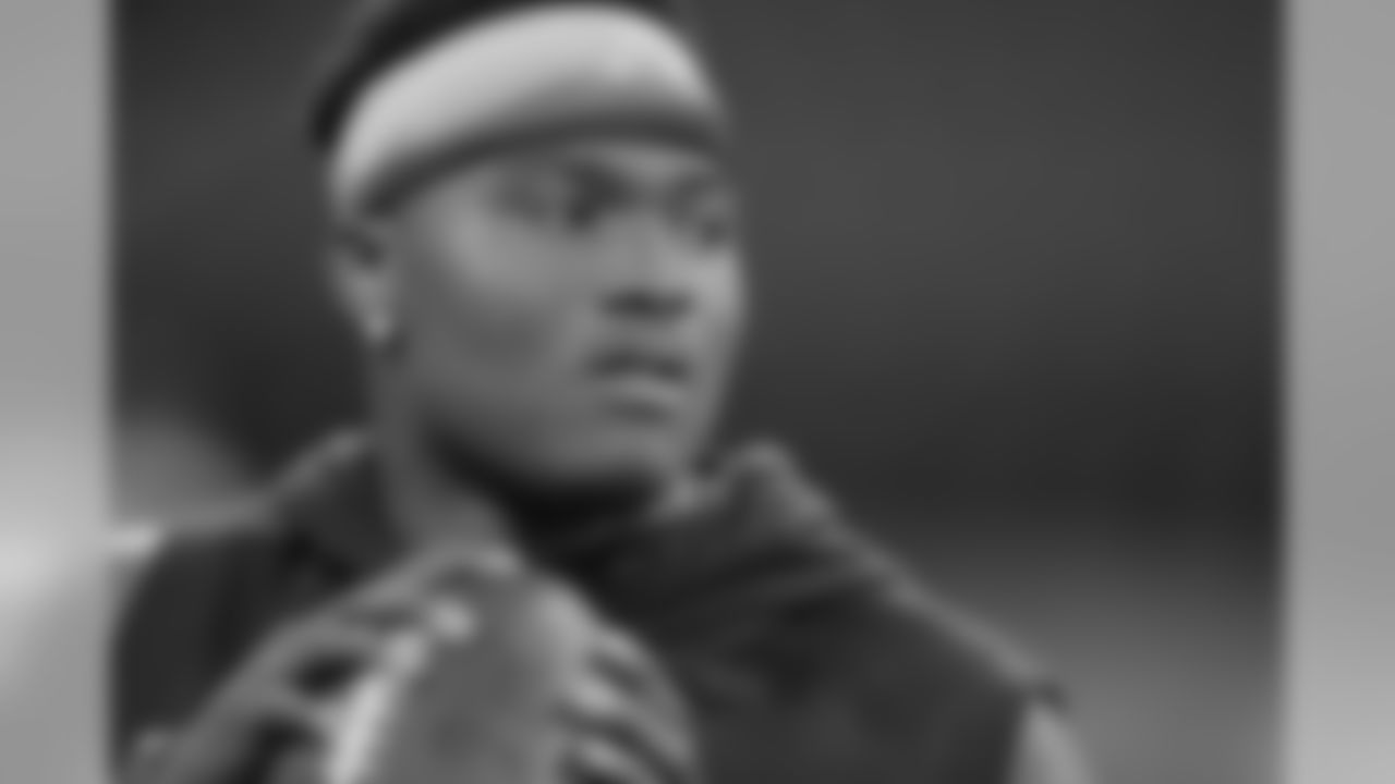 Ohio State quarterback Dwayne Haskins throws during a drill at the NFL football scouting combine, Saturday, March 2, 2019, in Indianapolis. (AP Photo/Darron Cummings)