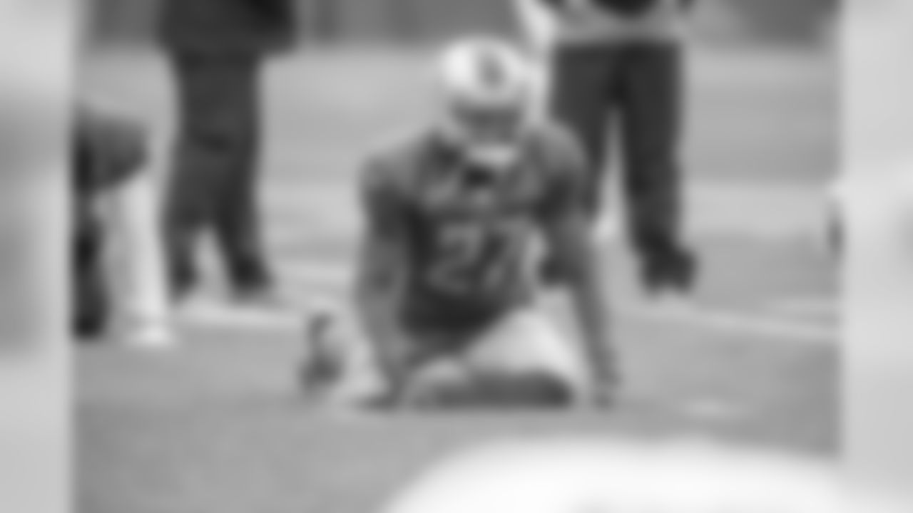 Detroit Lions cornerback Justin Coleman (27) during practice at the Detroit Lions training facility Wednesday, Oct. 30, 2019 in Allen Park, Mich. (Detroit Lions via AP)