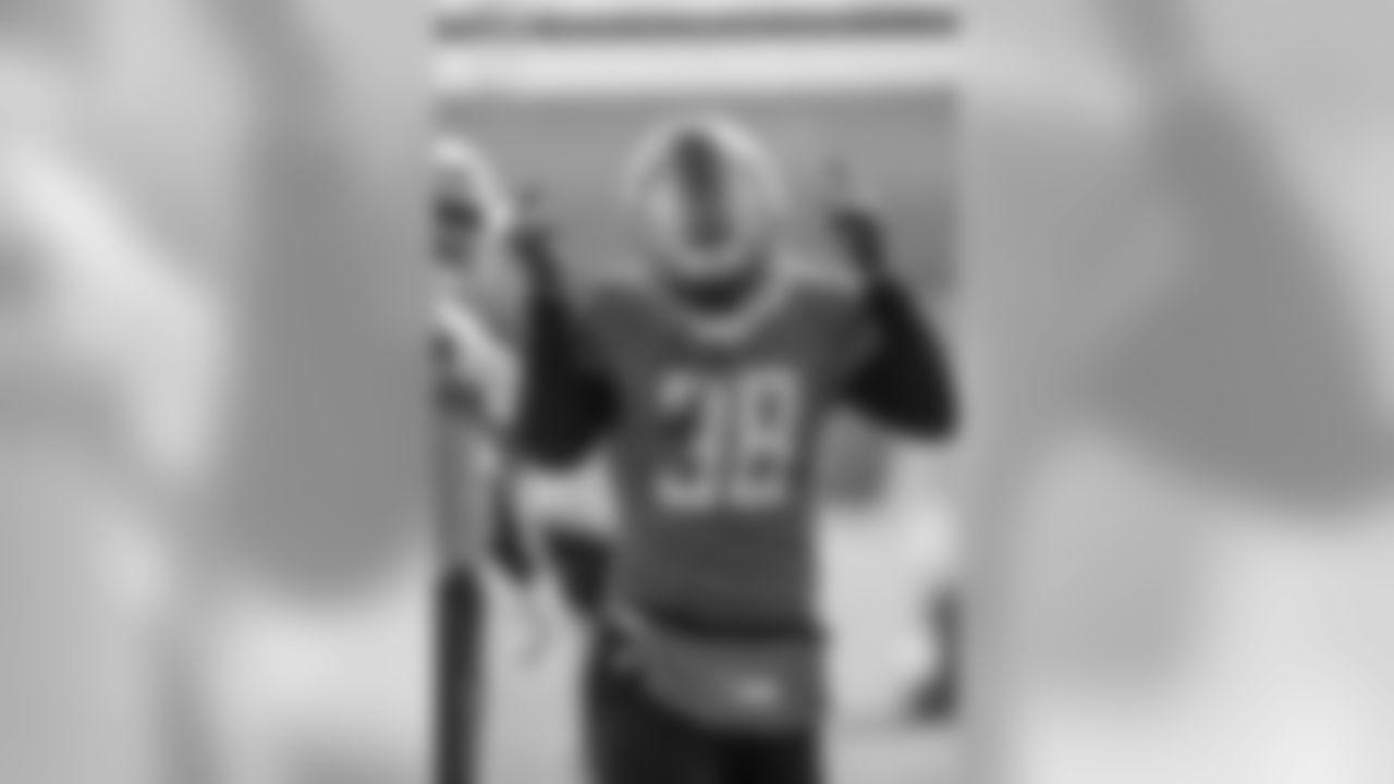 Detroit Lions cornerback Mike Ford (38) during practice at the Detroit Lions training facility Friday, Nov. 8, 2019 in Allen Park, Mich. (Detroit Lions via AP)