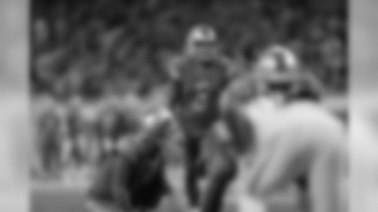 Detroit Lions kicker Matt Prater (5) during a NFL football game against the New York Jets on Monday, Sept. 10, 2018 in Detroit. (Detroit Lions via AP).