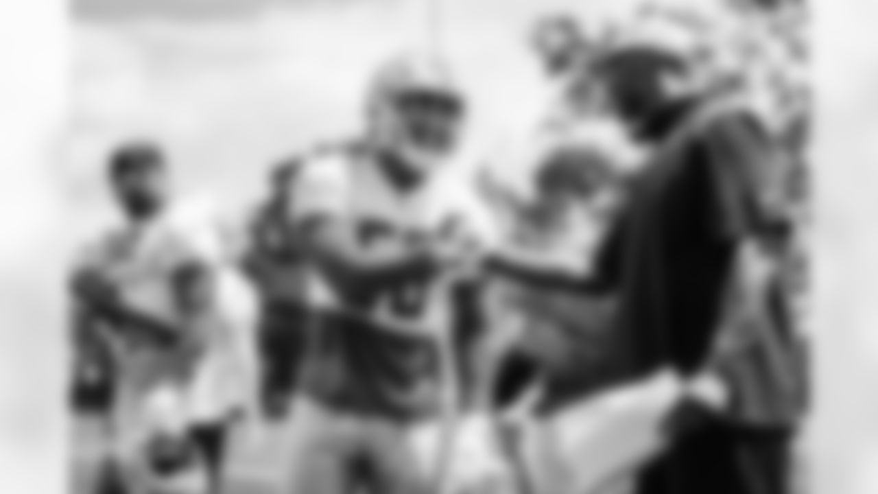 Detroit Lions linebacker Derrick Barnes (55) Detroit Lions General Manager Brad Holmes during OTAs at Allen Park. (AP Photo)