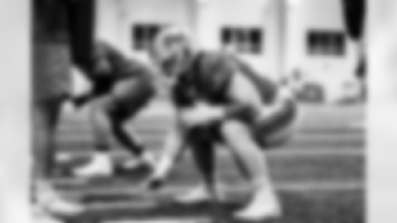 Detroit Lions center Evan Brown (63) during Lions practice at the Training Facility in Allen Park, MI on October 8, 2021. (Jeff Nguyen/Detroit Lions)