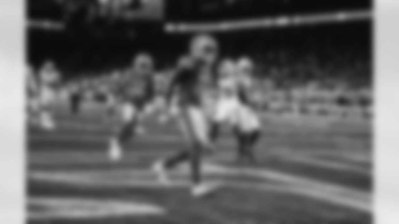 Detroit Lions wide receiver Quintez Cephus (87) scores a touchdown in the first quarter of a NFL football preseason game against the Indianapolis Colts on Friday, August 27, 2021 in Detroit, MI. (Jeff Nguyen/Detroit Lions).