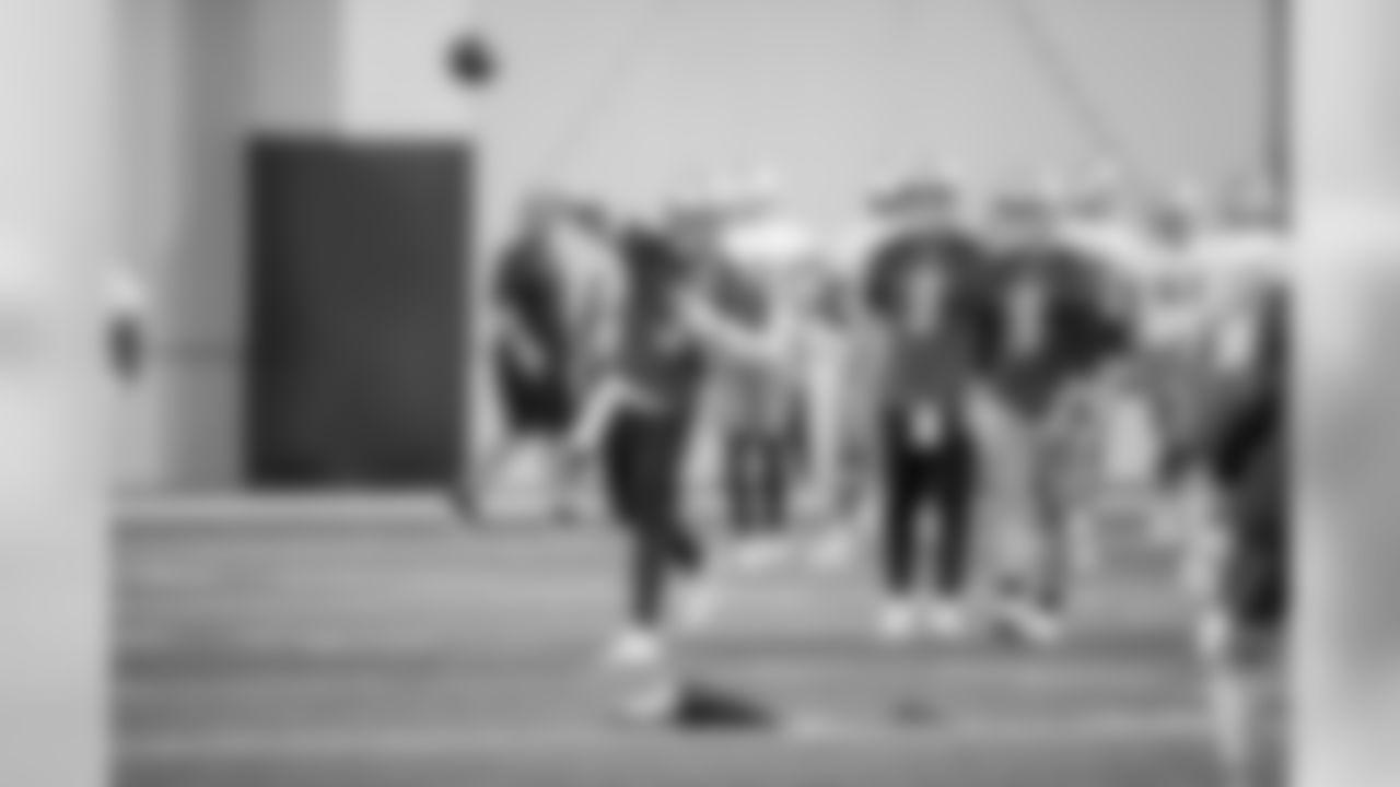 Detroit Lions quarterback Tom Savage (3) during Day 6 of OTA practices on Monday, June 10, 2019 in Allen Park, Mich. (Detroit Lions via AP)