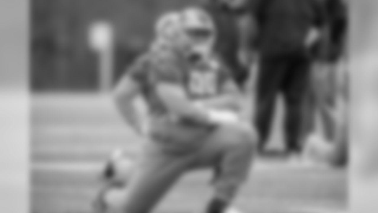 Detroit Lions defensive tackle John Atkins (99) during practice at the Detroit Lions training facility Thursday, Dec. 5, 2019 in Allen Park, Mich. (Detroit Lions via AP)