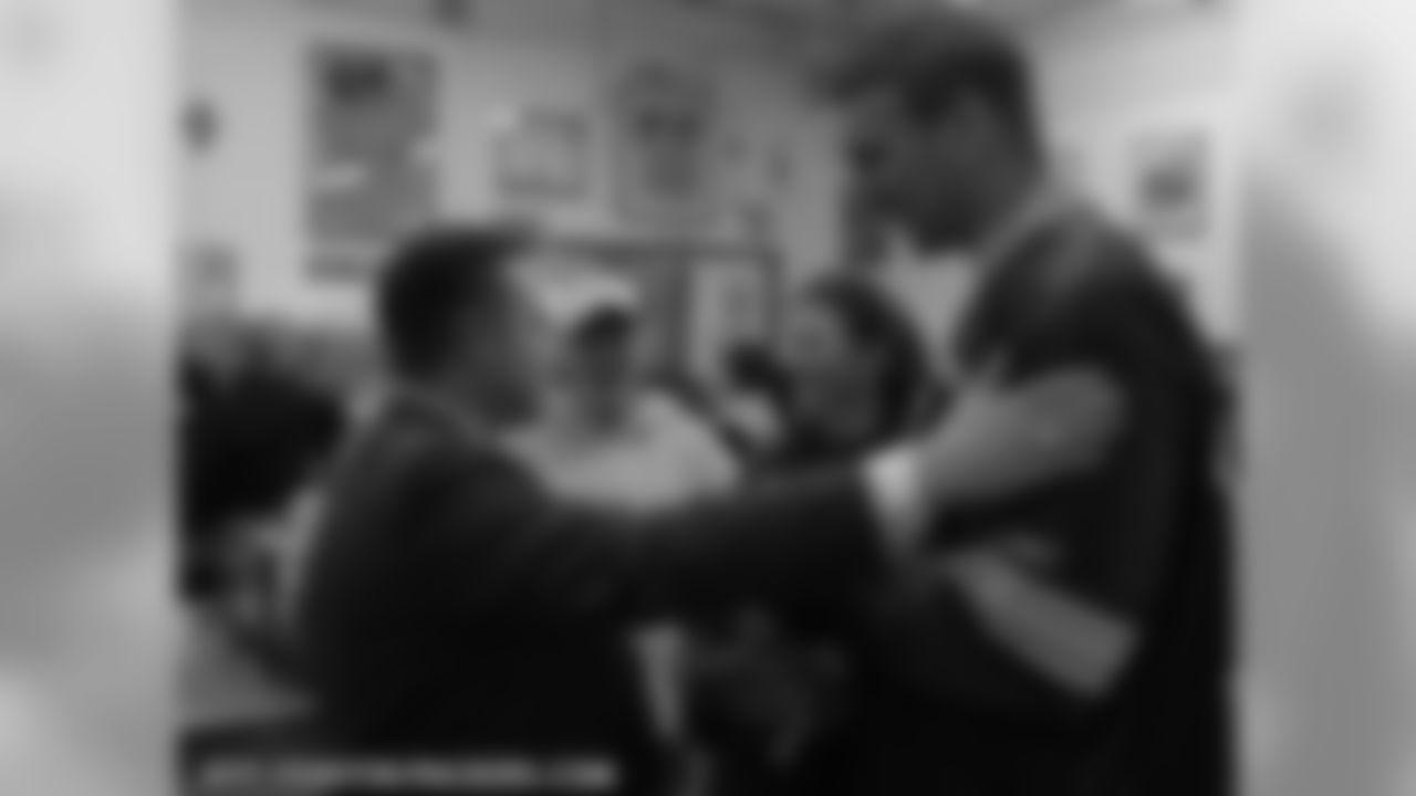 Green Bay Mayor Jim Schmitt and Aaron Kampman