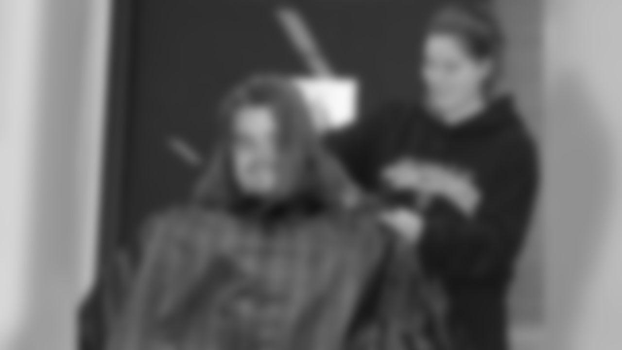 Tauscher Cuts Hair To Raise Money For St. Joseph's Hospital